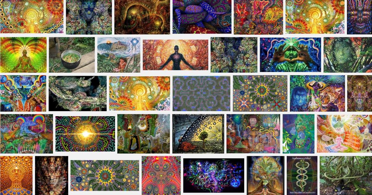 Screenshot der Google- Bildersuche nach 'Ayahuasca'