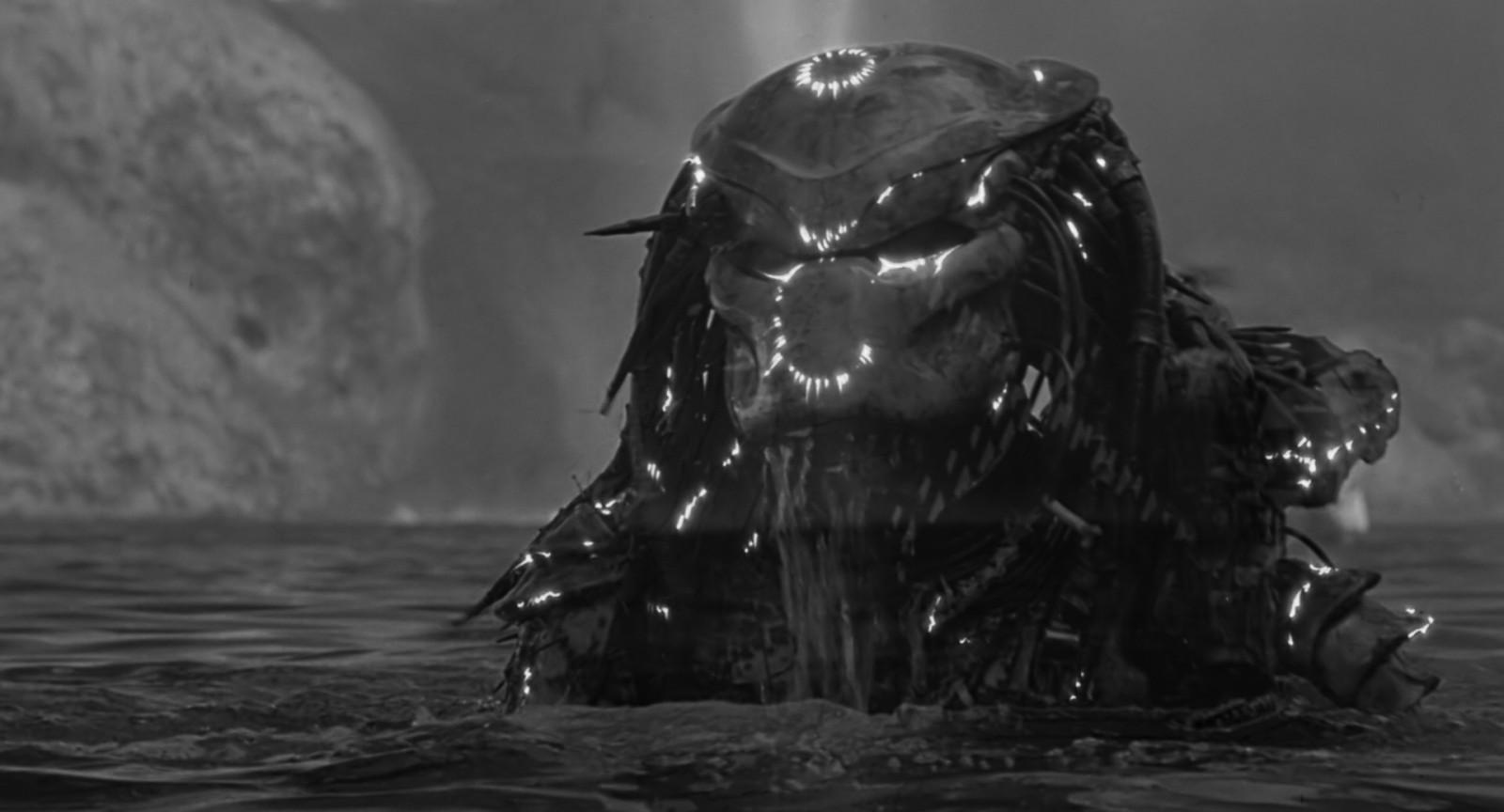 Ein ausserirdischer Cyborg. Szene aus Predator (McTiernan 1987)
