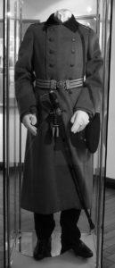 Uniform des Hauptmanns im Ausstellungsraum des Rathauses Köpenick