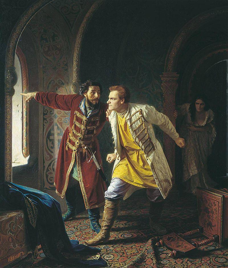 Der falsche Dimitri war für kurze Zeit russischer Zar (Bild: Die letzten Minuten des falschen Dimitri von Carl Bogdanovich Wenig 1879) Carl Bogdanovich Wenig