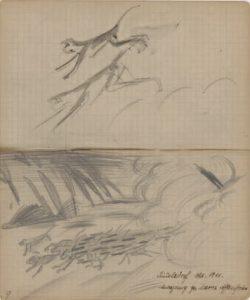 Abb. I: Franz Marc, <em>Zwei springende Affen</em> | August Macke, <em>Laufende Affenherde</em>, 1911