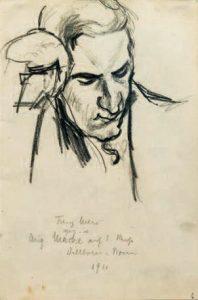 August Macke, <em>Porträt Franz Marc</em>, 1911.