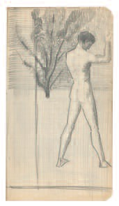 August Macke, <em>Männliche Rückenfigur</em>,1909.