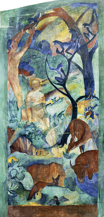 August Macke, Franz Marc, Paradies, 1912.