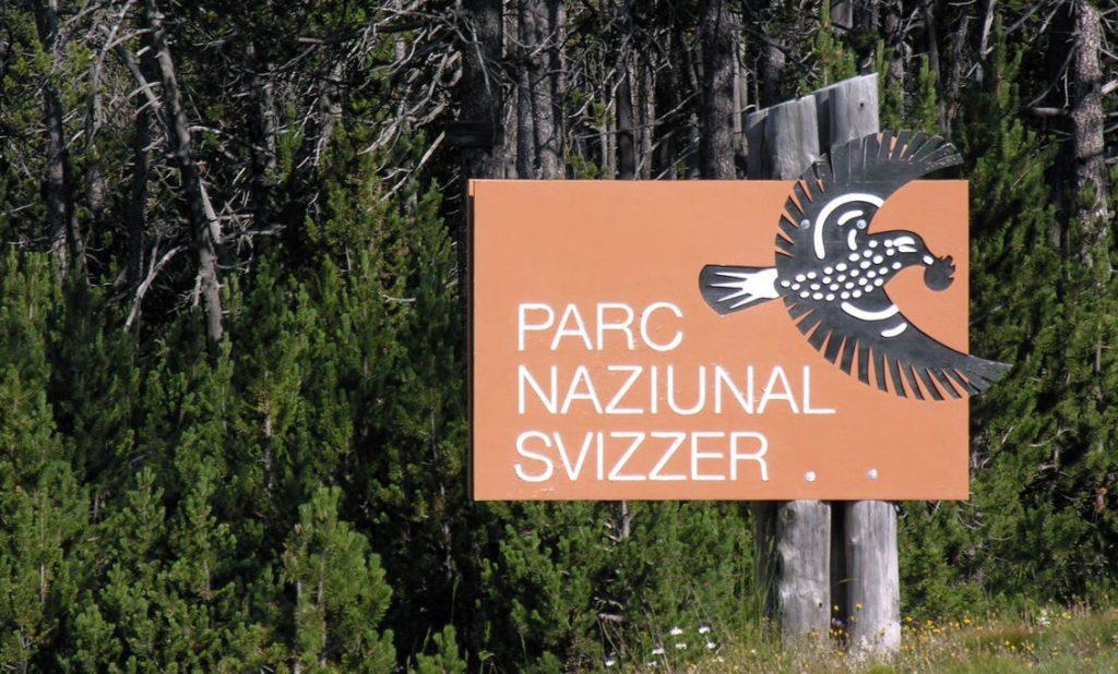 Am Eingang zum Schweizerischen Nationalpark