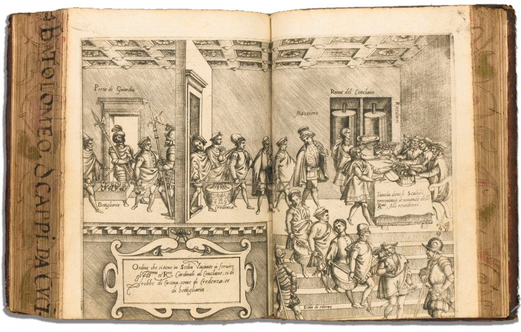 Radierung aus: Scappi, Bartolomeo. 1570. <em>Opera</em> (Bild: Sotheby's)